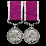 The scarce 'double issue' Army Long Service and Good Conduct Medal pair awarded to Sergeant W.H. ...
