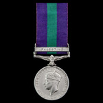 North Africa Operation Compass January 1941 Casualty General Service Medal 1918-1962, GVI 1st typ...