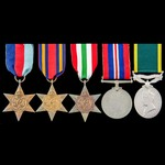 Second World War Burma and Italy campaign and Territorial long service group awarded to Lieutenan...