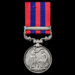 India General Service Medal 1854-1895, 1 Clasp: Northwest Frontier, awarded to Rifleman Charles S...