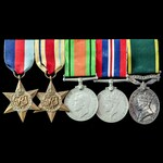 Second World War Middle East and Territorial long service group awarded to Captain later Major W....
