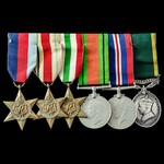 Second World War Middle East and Italy Campaign Territorial long service group awarded to Lieuten...