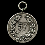 Germany - Imperial - Prussia: 50th Jubilee Medal of Infantry Regiment 57 (1860-1910), silver. Lac...