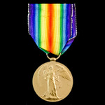 A Retreat to the Hindenburg Line Casualty Victory Medal awarded to Private H.E. Banham, 10th Batt...