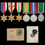 Second World War North Africa 8th Army and Italy and Territorial long service group awarded to Tr...