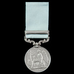 Army of India Medal 1799-1826, 1 Clasp: Bhurtpoor, awarded to Private John Sayer, 14th Buckingham...