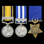 The very fine South Africa Zulu War 1879 and Egyptian War 1882 Tel-el-Kebir group awarded to Rifl...