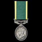 Efficiency Medal, GVI, 2nd type bust, Territorial suspension, awarded to a woman, Serjeant J. Mat...