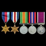 Second World War North West Europe and Regular Army long service group awarded to Warrant Officer...