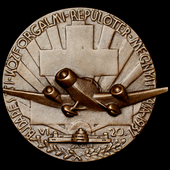 Hungary - Kingdom of: Commemorative Medal for the Opening of Budapest Airport in 1937, uniface br...