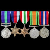 Palestine Arab Rebellion and Second World War Italy group awarded to Gunner H. Mellor, Royal Arti...