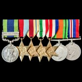 India North West Frontier Red Shirt Rebellion 1930-1931 and Second World War group awarded to Cap...