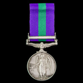 General Service Medal 1918-1962, GVI, 1 Clasp: Palestine 1945-48 awarded to Private F. Renyard, A...