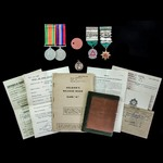 Second World War Home Service pair and supporting documentation and awards to Corporal N.G. Baxte...