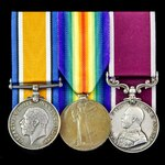 Great War and Army long service group awarded to Sergeant E.P. Symonds, Military Foot Police, who...