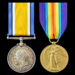 Great War pair awarded to Bombardier W.A. Uridge, Royal Field Artillery, who later saw service wi...