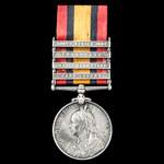 Queen's South Africa Medal 1899-1902, 4 Clasps: Cape Colony, Orange Free State, Transvaal, South ...