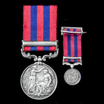 A fine India General Service Medal 1854-1895, 1 Clasp: Persia, awarded to Ensign later Colonel E....
