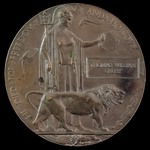 Great War Battle of the Somme Officer Casualty Memorial Plaque issued in memory of Thomas William...