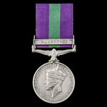 General Service Medal 1918-1962, GVI, 1 Clasp: Palestine, awarded to Fusilier A. Baits, 2nd Batta...
