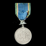 Thailand: Most Noble Order of the Crown of Thailand, 7th Class Silver Medal.