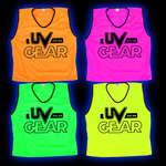 Blacklight UV-Reactive Neon Fluorescent Dayglo Mesh Airtex Sports Bibs