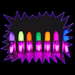 Kryolan Blacklight UV-Reactive Neon Fluorescent Glow dayglow lipstick