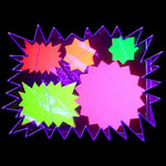Blacklight UV-Reactive Neon Fluorescent Dayglo Flash Notes - Star shaped uv paper