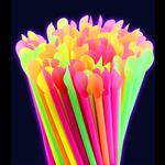 Blacklight UV-Reactive Neon Fluorescent Dayglo Drinking Straws Box of 200