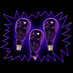 75 Watt Screw-in Glow UV - ornamental Effect Skull Bulb