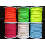 UV reactive Glow Blacklight Neon Colour Polyester Bootlace Cord/String 6mm Diameter