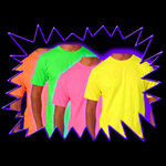 Blacklight UV-Reactive Neon Fluorescent Dayglo UV Reactive T-Shirt