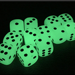 UV Glow Dice Set of 6