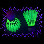 Blacklight UV-Reactive Neon Fluorescent Dayglo Shuttlecocks for Raveminton