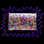 Blacklight UV-Reactive Neon Fluorescent Dayglo Mixed Acrylic Granules 1 kilo mix