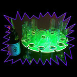 UV Gear design UV Reactive Neon Champagne Flute Caddy