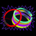 Glow Bracelets - Party Pack of 100 Mixed Colours