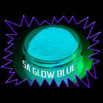 Phosphorescent Glow in the dark pigment powder - glow blue