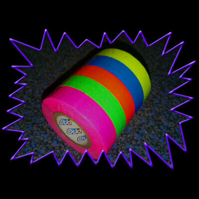 Blacklight UV-Reactive Neon Fluorescent Dayglo Cloth Tape 5 Roll Minimix Pack - product image