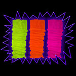 Blacklight UV-Reactive Neon Fluorescent Glow Leg Warmers