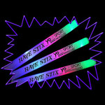Flashing LED Foam Dance and Rave Sticks -10 pack