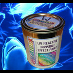 Invisible effect UV reactive reveal paint White