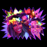 Blacklight UV-Reactive Neon Fluorescent Dayglo Hawaiian Lei Flower Garland