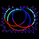Glow Necklaces - Party Pack of 50 Tricolour