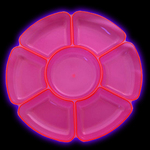 UV Reactive Blacklight Neon Snack tray