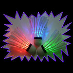 Glow Sports LED Glow UV Badminton Shuttlecock - 3 pack