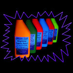 Blacklight UV-Reactive Neon Fluorescent Dayglo Fabric Paint Single Colour Pot 20ml
