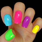 UV Gear Blacklight UV-Reactive Neon Fluorescent Glow nail polish