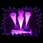 Blacklight UV-Reactive Neon Fluorescent Dayglo Ultra Violet Champagne Flutes - 10 pack