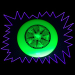 UV Reactive Blacklight Glow Neon yellow Frisbee
